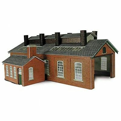 PN113 N Two Track Engine Shed Mecalfe Self build Model Rail Kits