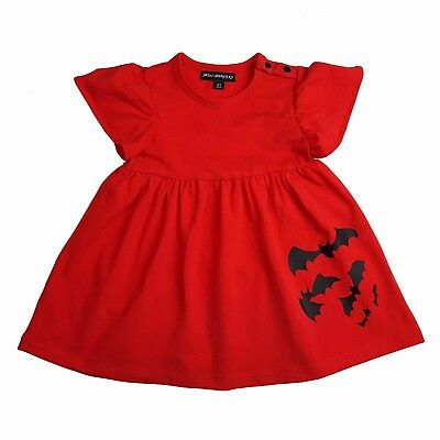 Metallimonsters Red Bats dress alternative baby clothes goth punk rock metal