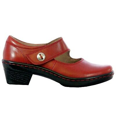 Kravings by Klogs MAY Women/'s Leather Flat Shoes Display Model HUNTER RED 8 M