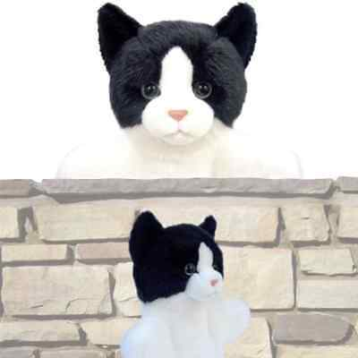 NEW Black and White Cat Hand Puppet