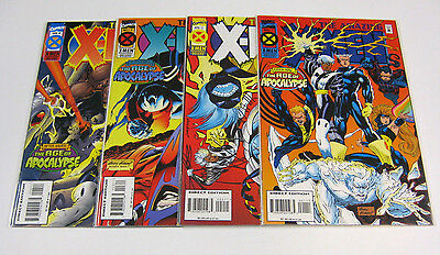 Amazing X-Men #1,2,3,4 Full Set #1-4 NM AGE OF APOCALYPSE! MARVEL COMICS 1995 NR