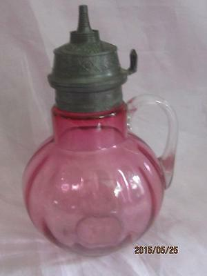 Hobbs Brockunier Optic Rubina Syrup Jug