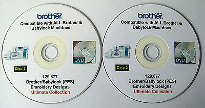 129,877 BROTHER BABYLOCK PES Format EMBROIDERY Designs 75% Off + FREE Software