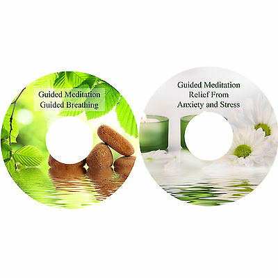 Guided Meditation Breathing + Anxiety & Stress Relief on 2 CDs Relaxation