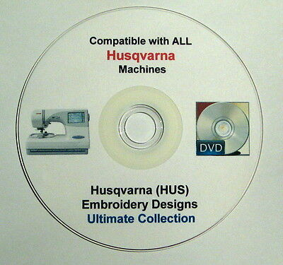 31,237 HUSQVARNA HUS Format Embroidery Designs 75% off + FREE Software