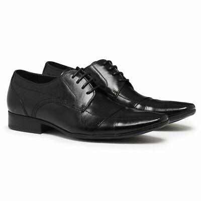 JULIUS MARLOW Ballistic Genuine Leather Mens Lace Dress Work Formal Casual Shoes
