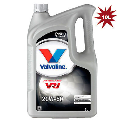 Valvoline VR1 Racing SAE 20W-50 Car Engine Motor Oil - 2x5L=10 Litre