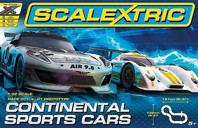 C1319 Scalextrics Continental Sports Cars set Complete UK Stock Scalextric Slot