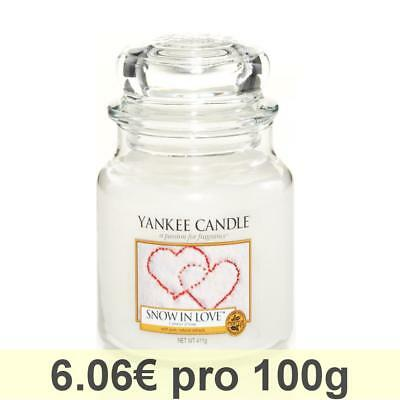 Yankee Candle Classic Housewarmer Mittel, Snow In Love, Duftkerze, Raum Duft