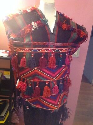 Hand Made Decorative Poncho Saddle Bag .