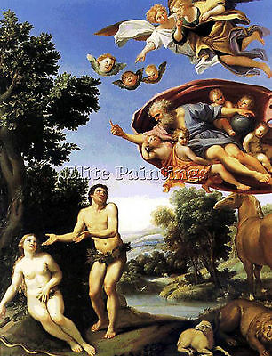Adam And Eve  Artist Painting Reproduction Handmade Oil Canvas Repro Art Deco
