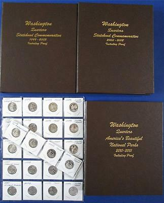 SUPERB 1999 Through 2015 COMPLETE QUARTER SET-BU+Clad +Silver Proof-344 COINS!