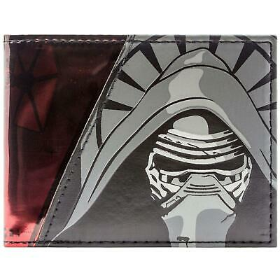 New Official Star Wars Force Awakens Kylo Red Id & Card Bi-Fold Wallet