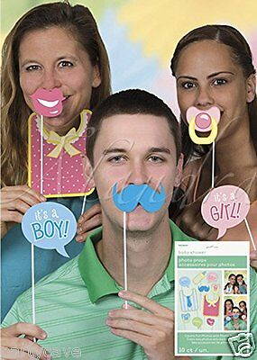 Baby Shower Party Photo Pose Selfie Props Assorted Pack X 10