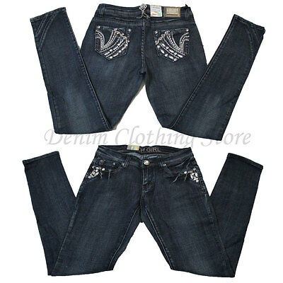 Wholesale Lot of 8 Women Juniors Rhinestone Denim Skinny Jeans Mixed Sizes