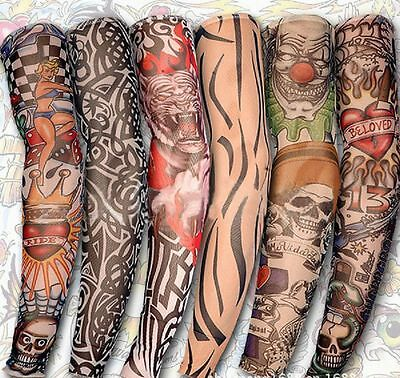 Fake Temporary Tattoo Sleeve Arm Nylon Stockings Tatoo 20 Style Available