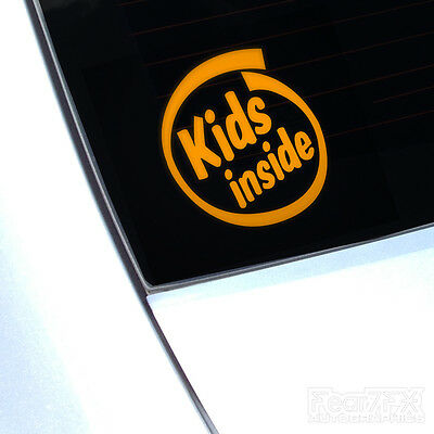 Kids Inside Car Van Window Decal Sticker Safety Child Baby Children On Board