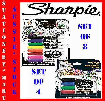 Sharpie◉Stained Fabric Permanent Marker Pen Pack◉Laundry◉Cloth◉Linen◉Paint Set◉