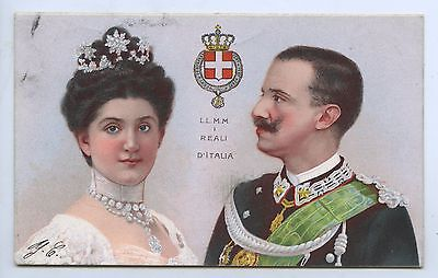 C1900 PT PU UB L POSTCARD KING VICTOR EMMANUEL 111 OF ITALY & QUEEN q19