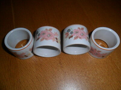 Boots Hedge Rose Napkin Rings X 4