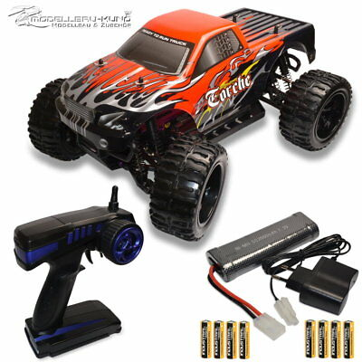 1:10 RC Elektro Monstertruck Truck TORCHE 2.4 GHz 4WD RTR incl.8x AA