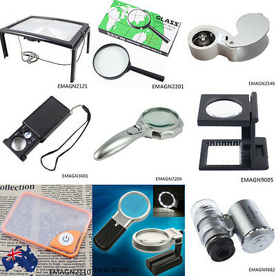 Magnifier Loupe Magnifying Microscope LED Reading Watching Handheld EMAGN