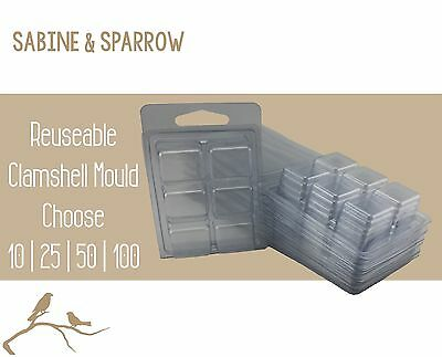 Clamshell Mould Container_ Soy Wax Melts Bulk Choose 10 | 25 | 50 | 100 | 200