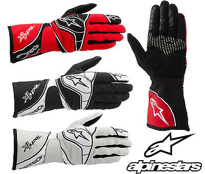 Alpinestars 2015 Tech 1-K Gloves, Karting Clearance Sale, Ideal for AUTOGRASS