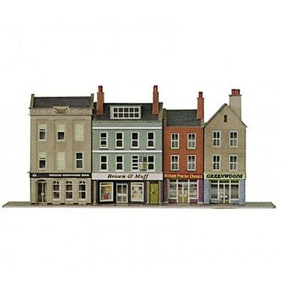 PN106 N Scale Low Relief Bank & Shops Metcalfe Model Kit Building