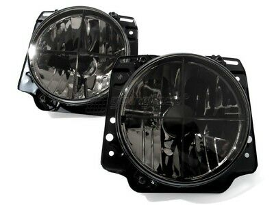 LHD VW Golf MK2 2 Black Smoke Clear Headlight Cross Hair Head Light Lamp GTI-