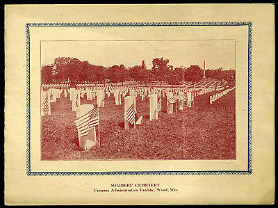 1920' Soldier's Cemetery Veterans Administraion Facility Wood Wisconsin Brochure