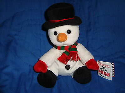 "1998 Sears Christmas Plush Beanbag Snowman HOHO BEANS 7"" Tall W/Tags"