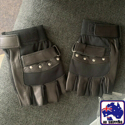 Leather Gloves Fingerless Full Finger Cycling Men Women Outdoor CGLOV + OGLOV