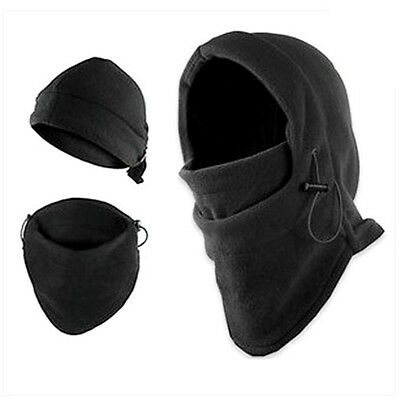 New THICKER Layer Warm Full Face Cover Winter Ski Mask Beanie Hat BLACK