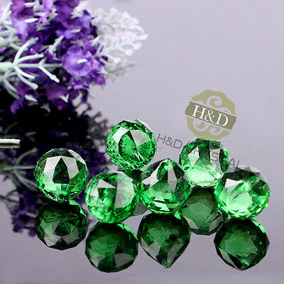 25 Green Crystal Ball Prism Chandelier Lamp Parts Wedding DIY Decor pendant 20mm