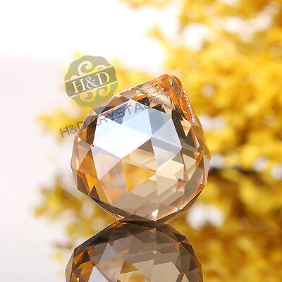 10 Champagne Glass Crystal Ball Prism Chandelier Parts Hanging Drop DIY Pendant