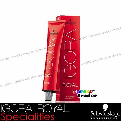 Schwarzkopf IGORA Professional Permanent Specialities Hair ROYAL Dye 60g Color