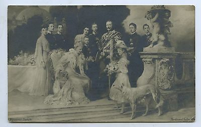 1906 Rp Npu Postcard German Royal Family Kaiser Wilhelm 11 R32