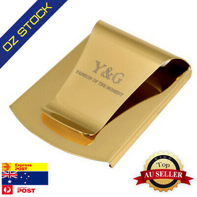MC1037 Wedding Gift Idea Gold Double-sided Stainless Streel Money Clip By Y&G
