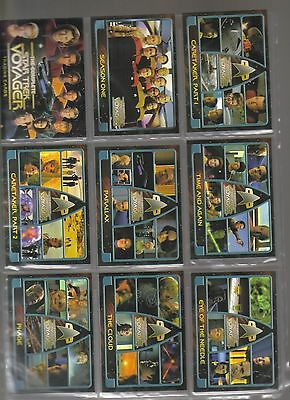 Star Trek Voyager COmplete from rittenhouse archives 2002 180 card set