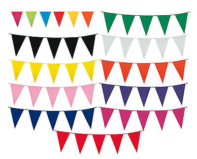 10m Giant Pennant Flag Bunting Banner Party Supplies Decoration Choose Colour