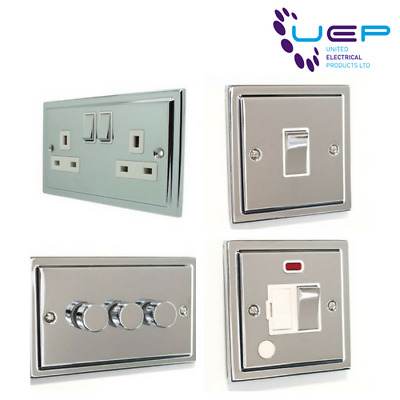Polished Chrome Sockets and Switches - Regency Range