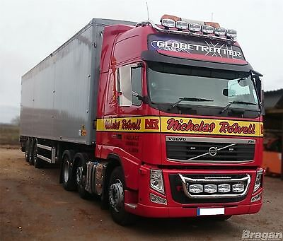 Volvo FH / FM Series 2 & 3 Stainless Steel Truck Grill Light Bar (Bar C) + LEDs