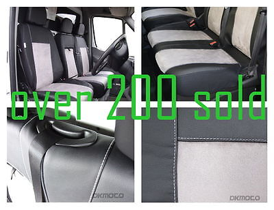 Tailored seat covers for Ford Transit Custom  2012 - on  Leatherette + Alcantara