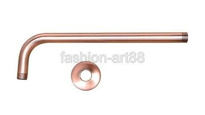 """Red Copper Shower Head Extension Pipe - 12"""" Long wall cover - Shower Arm fsh100"""