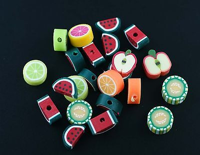 Wholesale 50/100/150/200/500pcs Lovely Fruit Clay beads Spacer Jewelry Making
