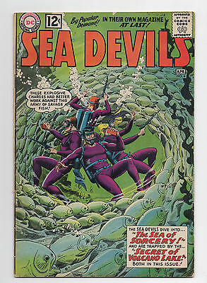 Dc Comics  Sea Devils  4  1962  Russ Heath   Solid Copy  Grodd Ad