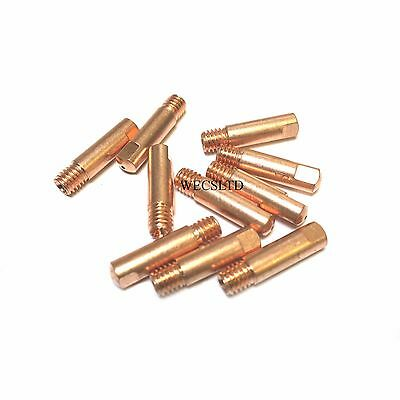 Pack of 10 Mig Contact Tips M6 x 0.6-1.0mm wire Light Duty type for MB15 Torches