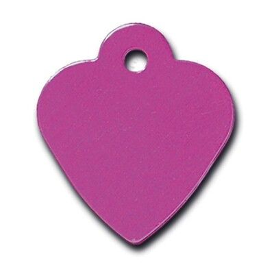 Small Purple Heart Custom Engraved Dog ID tag pet tag Name Tag Made in USA