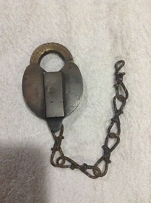 Antique / Vintage / Francis T Witte Hardware Co. NY / Brass Padlock / No Key